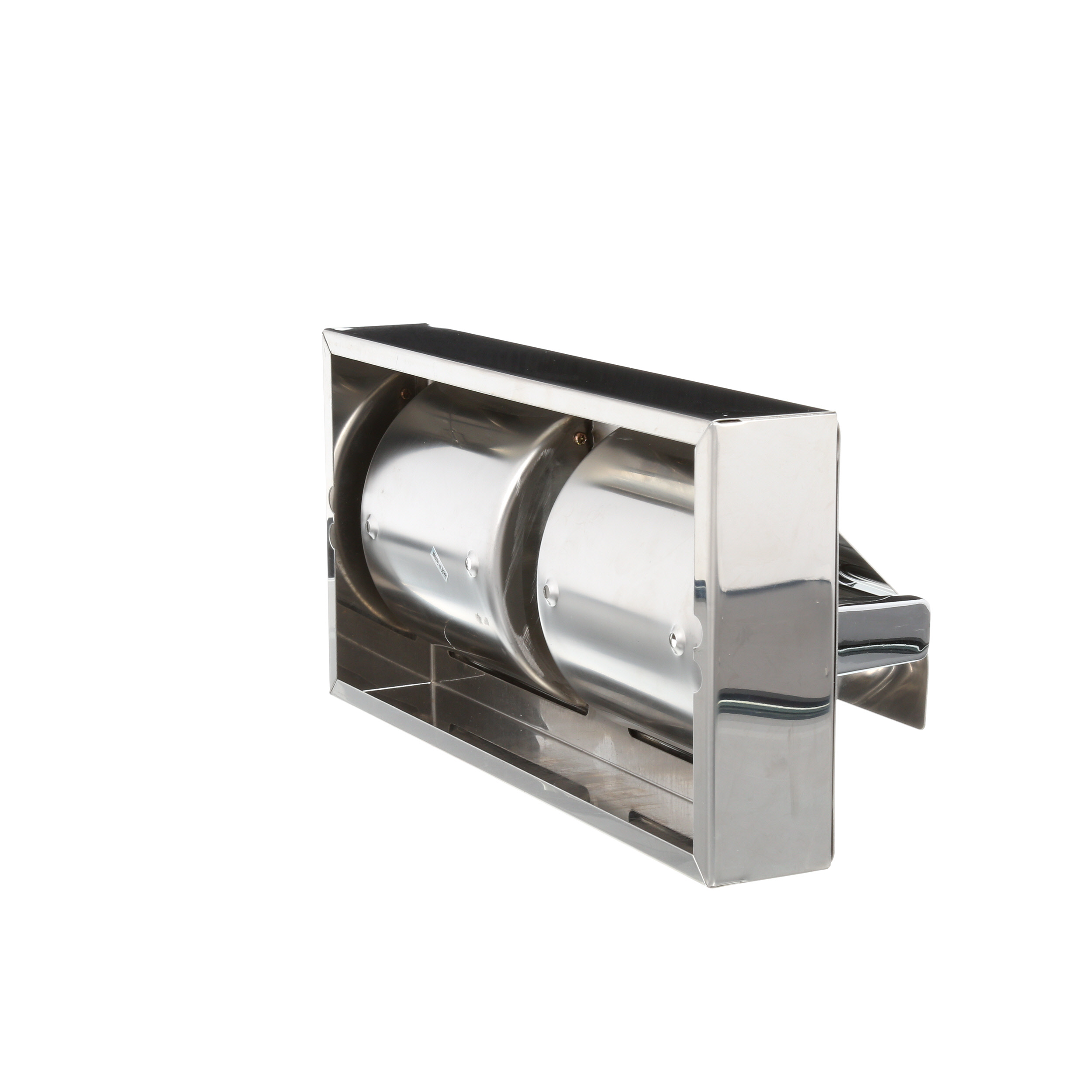 Surface Mounted Hinged Hood Dual Roll Toilet Tissue